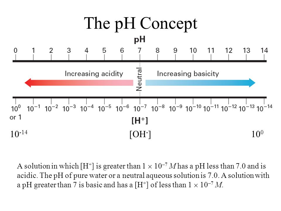 The pH Concept pH and Significant Figures 19.2 [OH-] 10-14 100